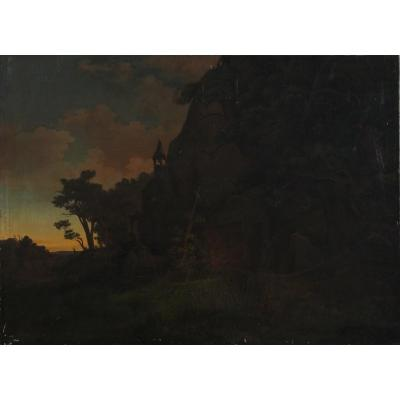 Beautiful Oil Painting, View Of The Ruins Of Otto Krafft Castle