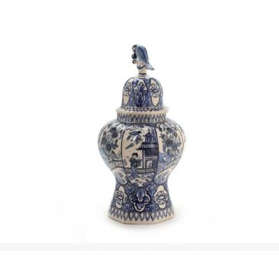 Vase, 18e Siècle Delft, Pieter Adriaen Pynacker