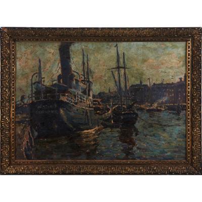 WALDEMAR SEWOHL (1887-1967): Thème Du Port