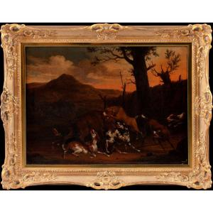 Abraham Danielsz. Hondius 1625-1691, Bear Hunt
