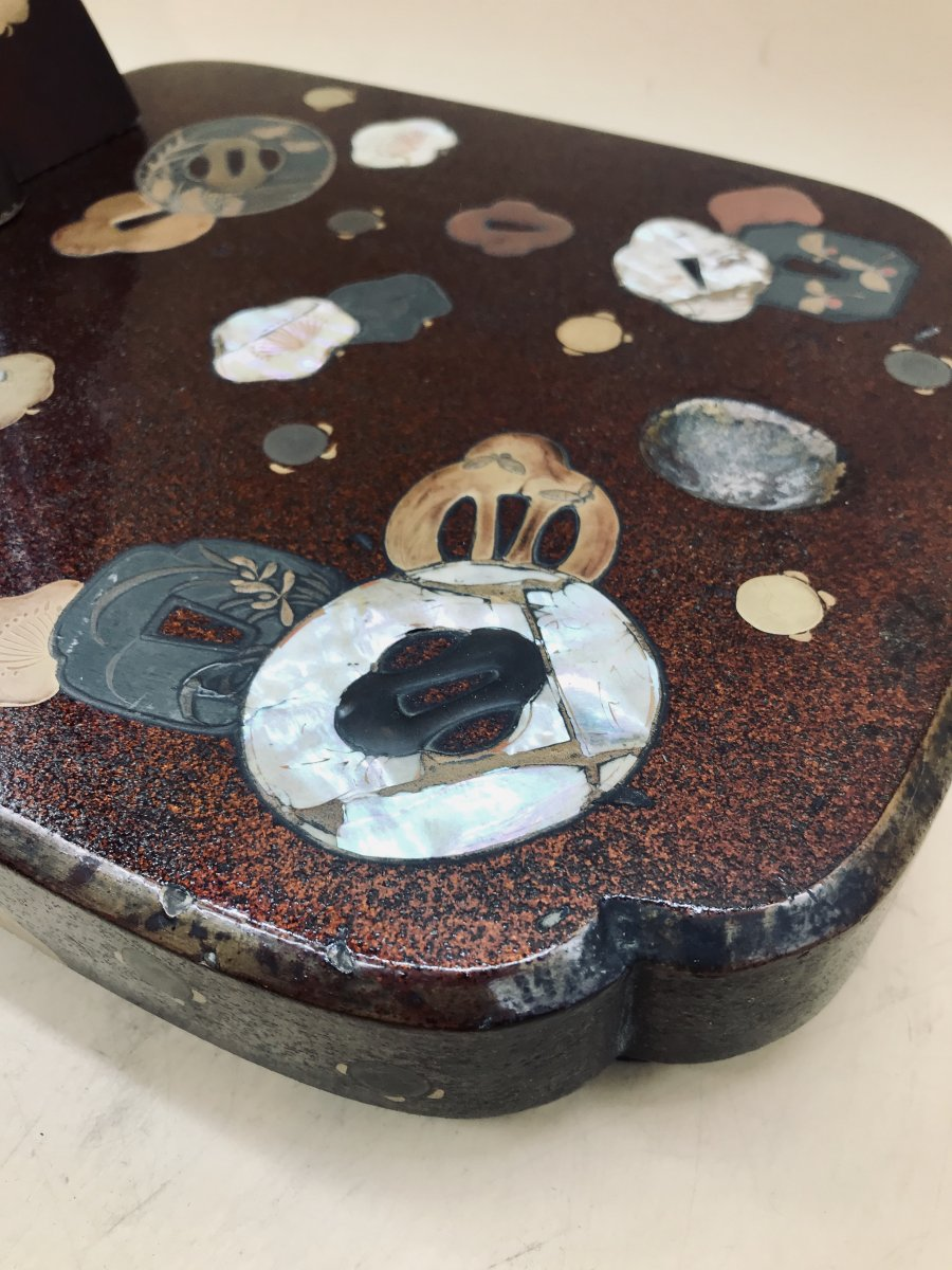Présentoir Tachi Pour Sabre Katana, Laque, Japon, Période Edo