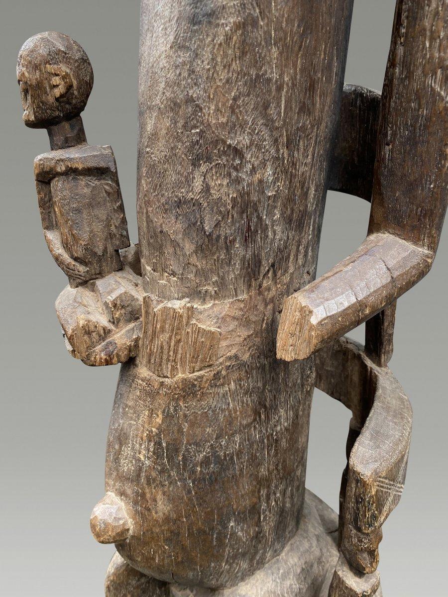 Grande Statue Maternite Bamana  / bambara Du Mali-photo-3