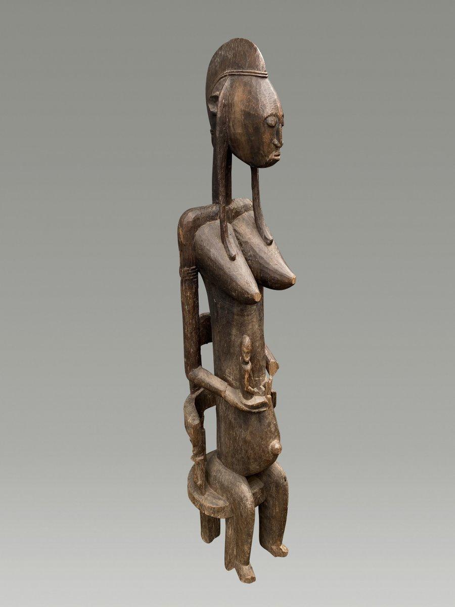 Grande Statue Maternite Bamana  / bambara Du Mali-photo-4