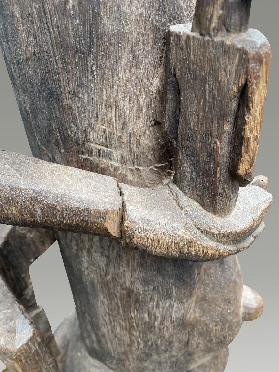 Grande Statue Maternite Bamana  / bambara Du Mali-photo-5