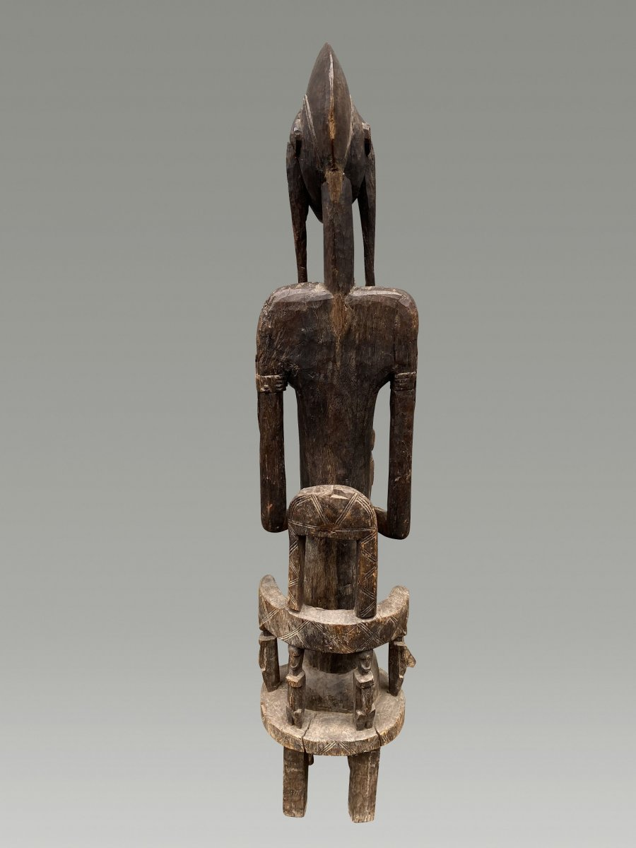 Grande Statue Maternite Bamana  / bambara Du Mali-photo-6