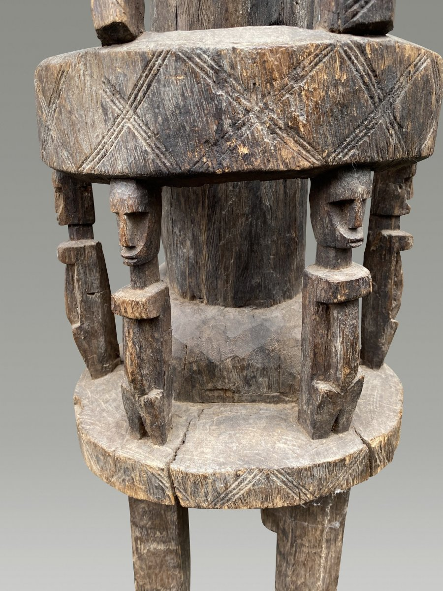 Grande Statue Maternite Bamana  / bambara Du Mali-photo-7