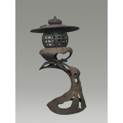 Lanterne De Jardin En Fer Forgé, Japon, Début Du XXème Siècle