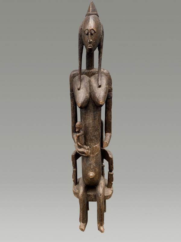 Grande Statue Maternite Bamana  / bambara Du Mali-photo-2