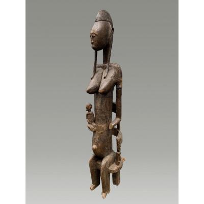 Large Bamana / Bambara Maternity Statue From Mali