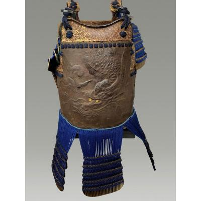 Plastron  Au Dragon  d'Armure De Samouraï Periode Edo