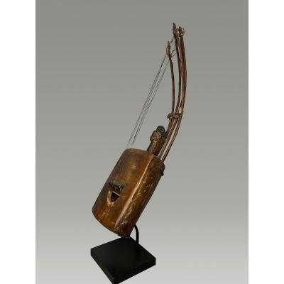 Belle Harpe Punu Instrument De Musique à 5 Cordes