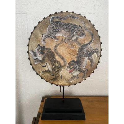 Old Japanese Taiko War Drum