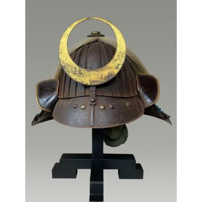 Samurai Helmet, Kabuto Edo Period 32 Slats And Horsehair