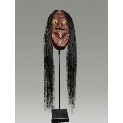 Masque Iroquois Societe Des Faux Visages Amerique Du Nord Aux Grosses Lèvres