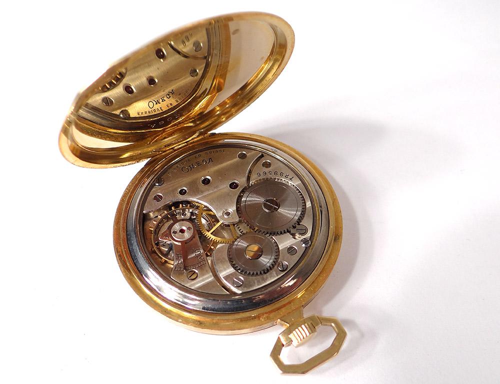 Exceptionnel Montre de Poche Chronomètre Omega Or Massif 18 Carats Art Déco  BQ61