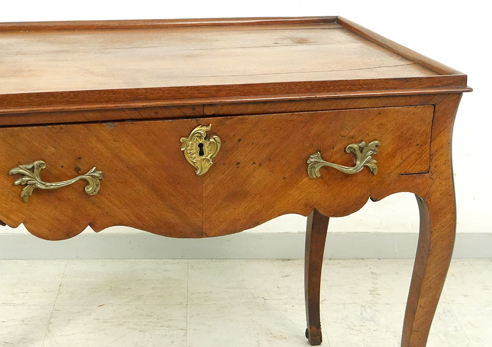 Table Louis XV Carved Gilt Bronze Curved Legs XVIII-photo-3