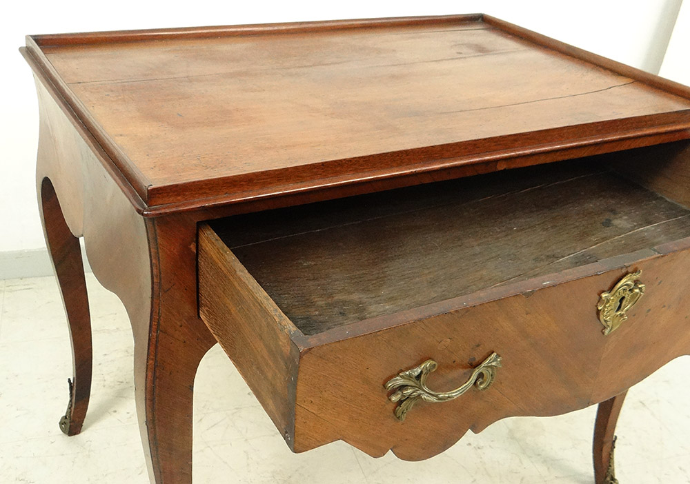 Table Louis XV Carved Gilt Bronze Curved Legs XVIII-photo-1