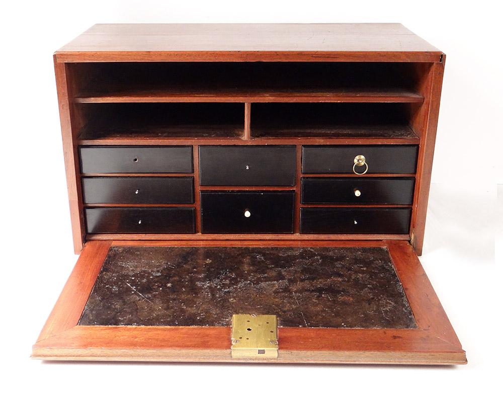 Small Travel Cabinet Mahogany Ebony Drawers Eighteenth Century
