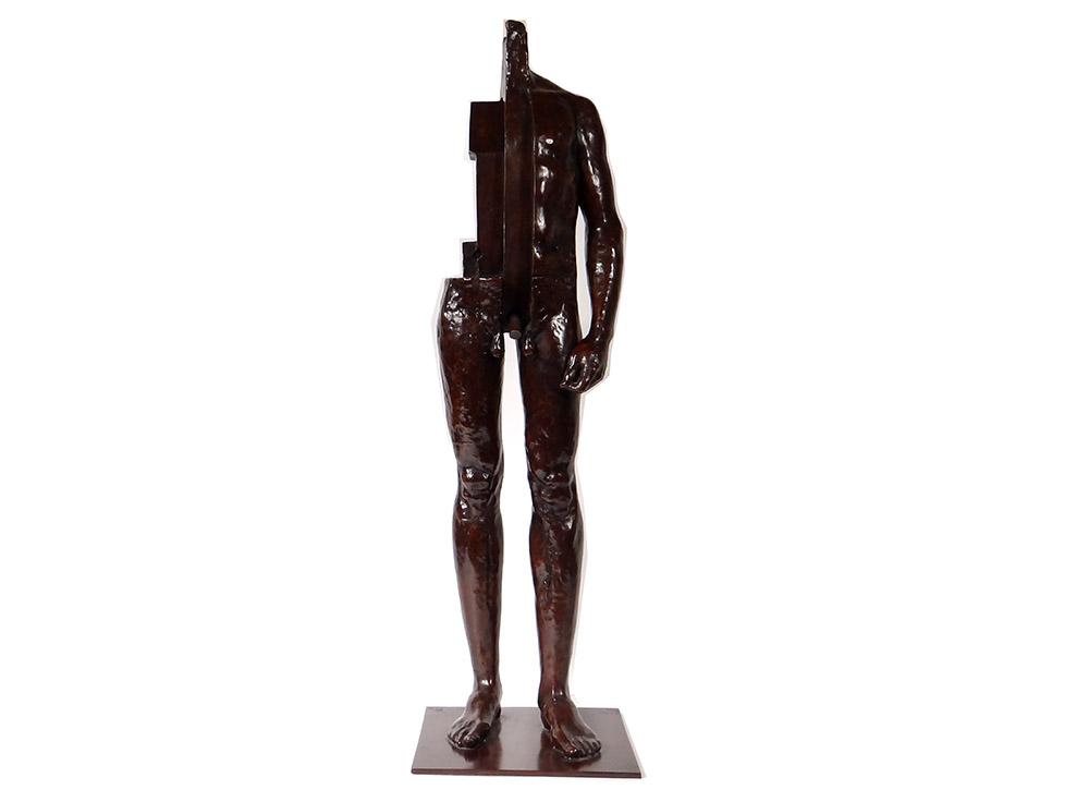 Grande Sculpture Bronze Mauro Corda Homme Nu écorché Fonderie Delval 1/8