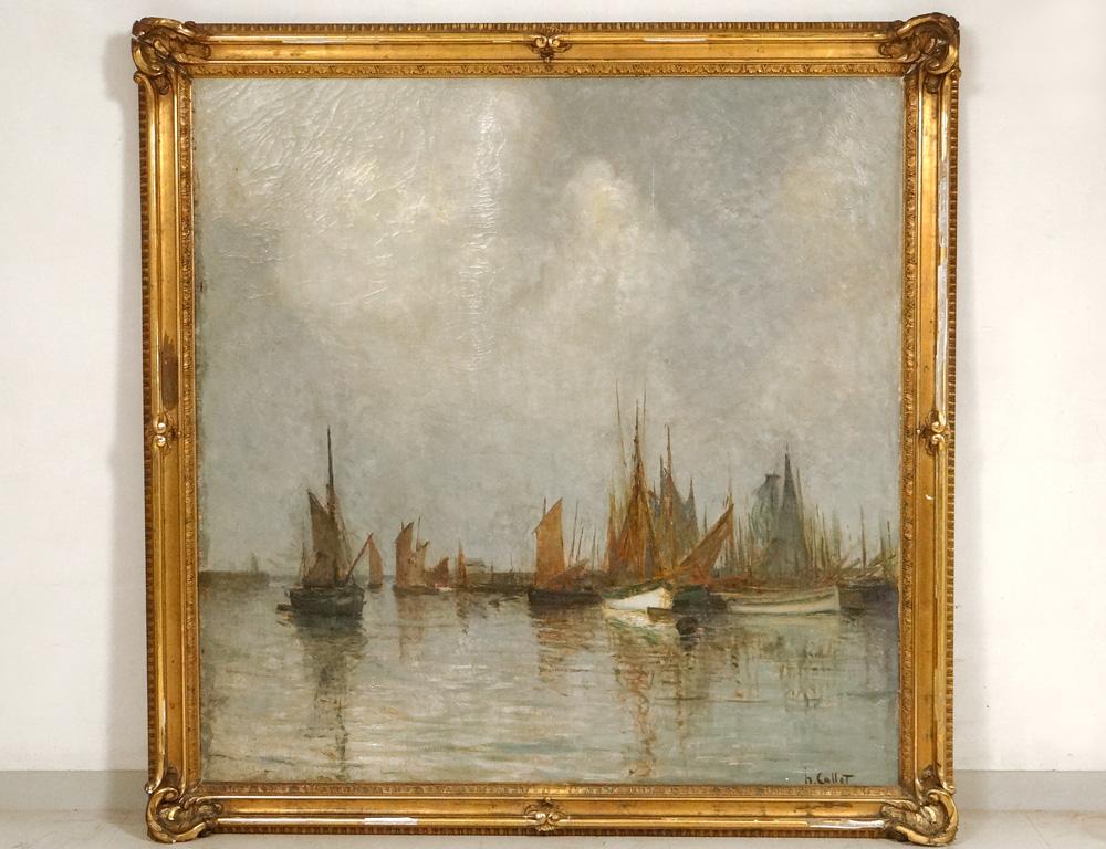 Great Hst Marine Henri Callot Boats Sailboats Port Belgium Expo Ghent 1913 XXth