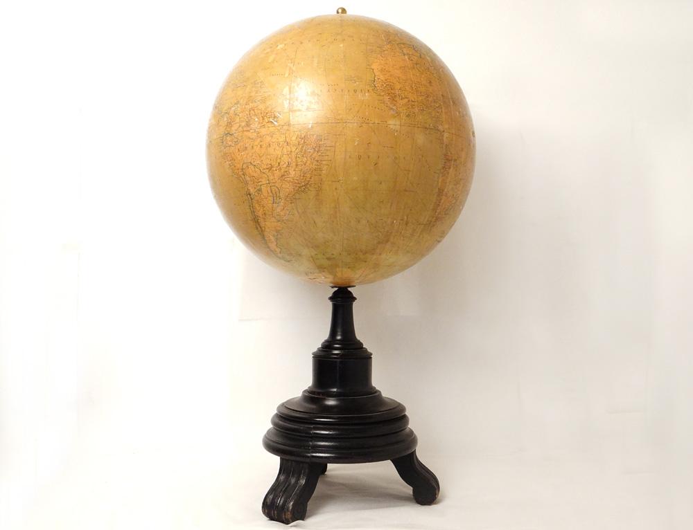 Grand Globe Terrestre Mappemonde Mouraux Bonnefont Larochette 1866 19è