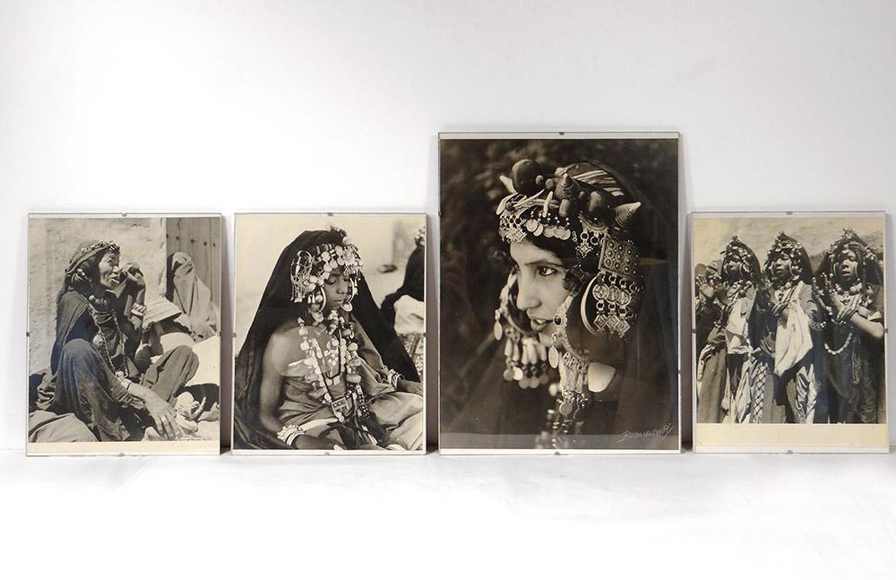 4 Photographies Jean Besancenot Afrique Maroc Costumes Parure Enfants XXème