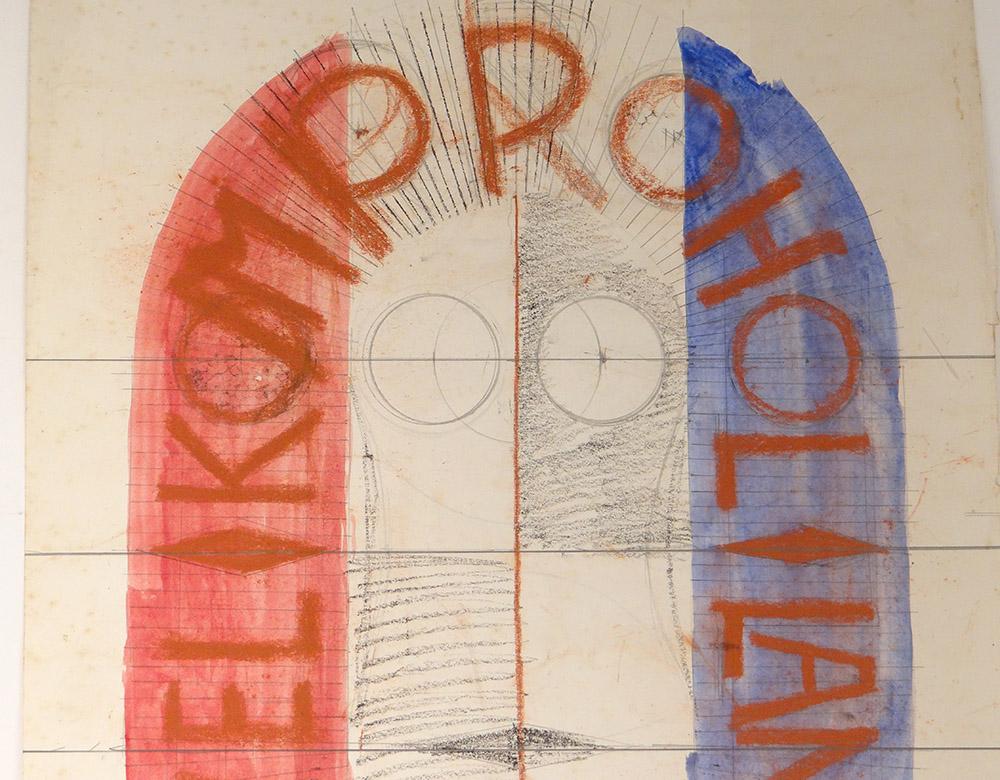 Ensemble Projets Aquarelles Lithographie Ernst Van Leyden Provo Warhol 1967-photo-2