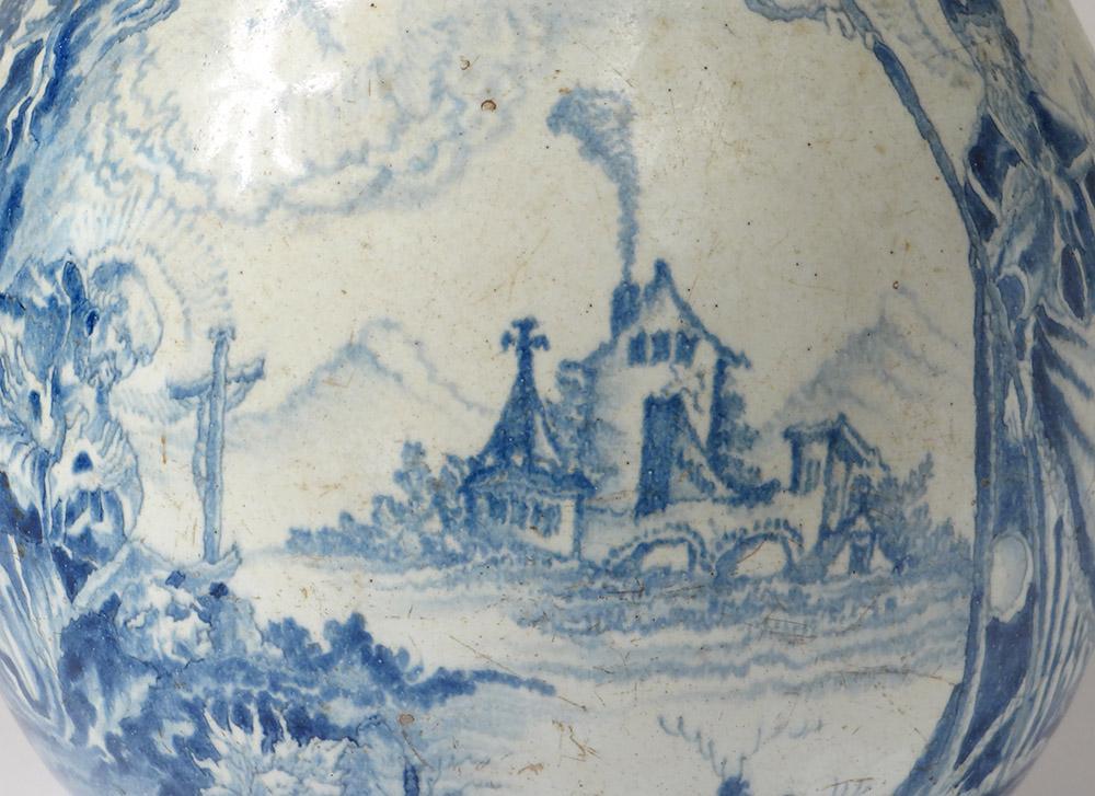 Pichet à Cidre Faïence Nevers Patronymique Saint évêque Boequer XVIIème-photo-4
