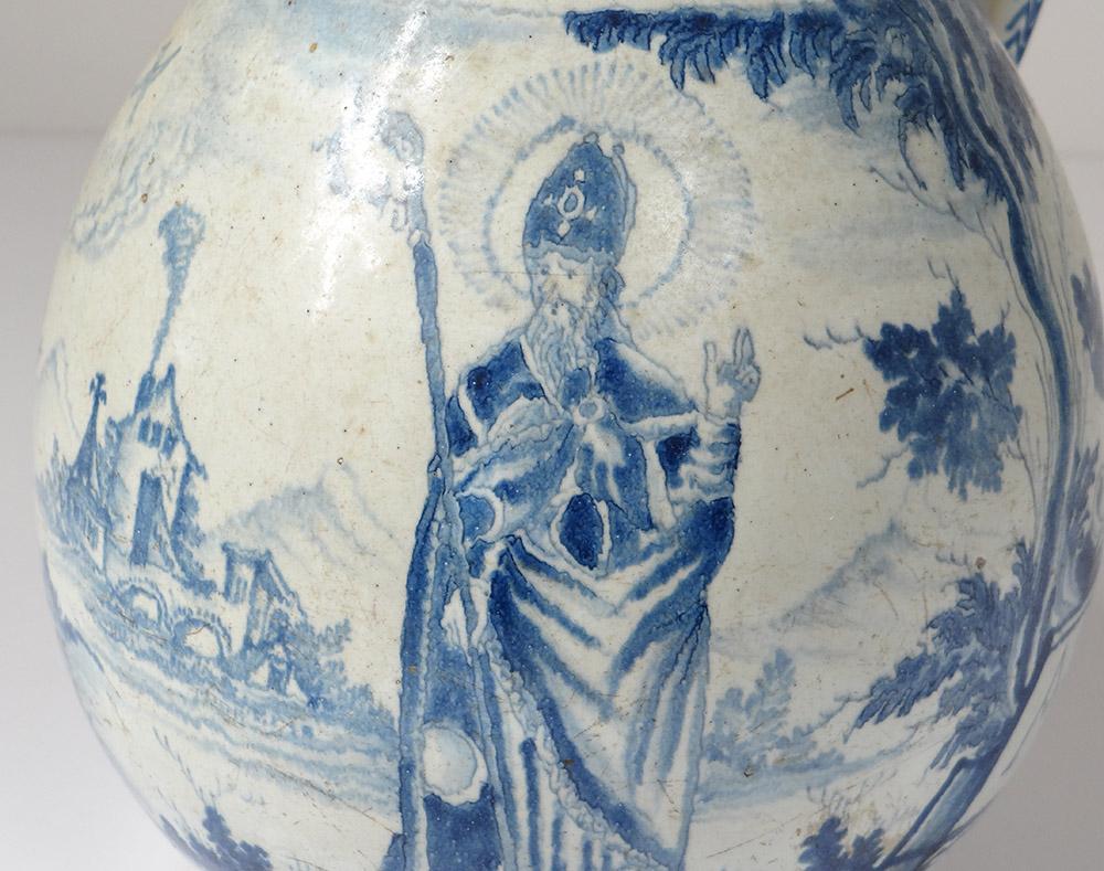 Pichet à Cidre Faïence Nevers Patronymique Saint évêque Boequer XVIIème-photo-1