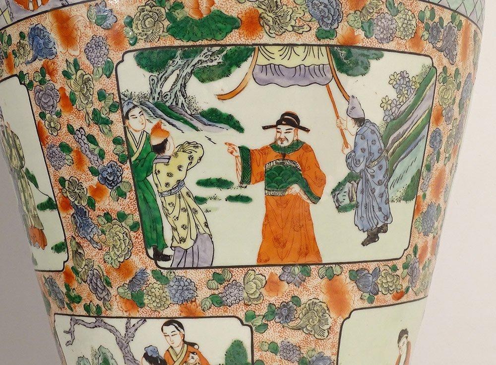 Large Porcelain Baluster Vase China Mandarin Characters 92cm Early Twentieth-photo-5
