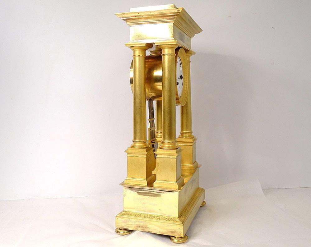 Pendulum Portico Columns Gilt Bronze Flocard Paris Empire Clock XIXth-photo-3