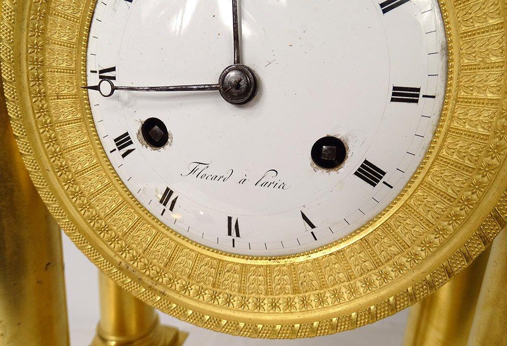 Pendulum Portico Columns Gilt Bronze Flocard Paris Empire Clock XIXth-photo-8