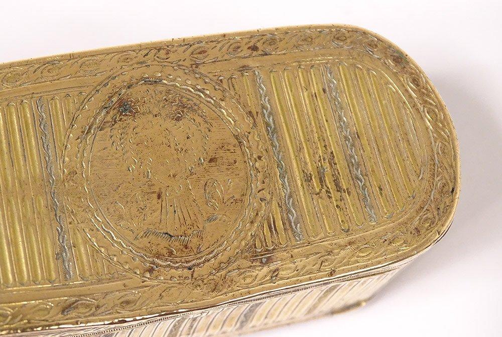 Tabatière Boîte à Mouches Louis XVI Pomponne Gerbe Blé XVIIIème Siècle-photo-4