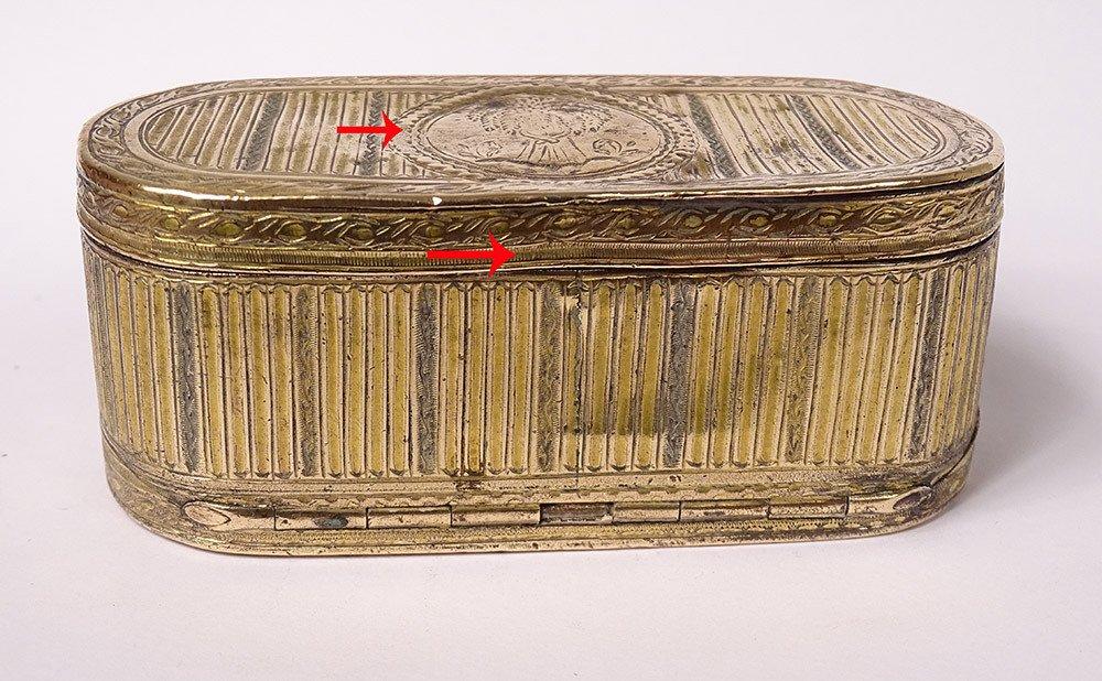 Tabatière Boîte à Mouches Louis XVI Pomponne Gerbe Blé XVIIIème Siècle-photo-3