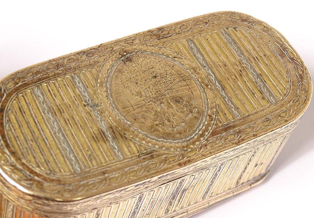 Tabatière Boîte à Mouches Louis XVI Pomponne Gerbe Blé XVIIIème Siècle-photo-8