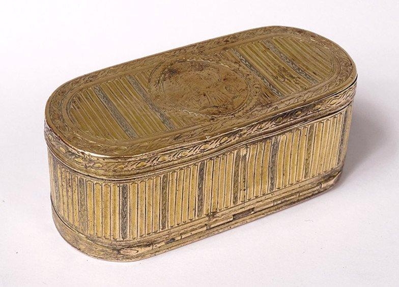 Tabatière Boîte à Mouches Louis XVI Pomponne Gerbe Blé XVIIIème Siècle