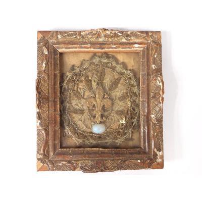 Quilling Reliquary Framework Son Gold Opal Flower Lys Framework Regency XVIII