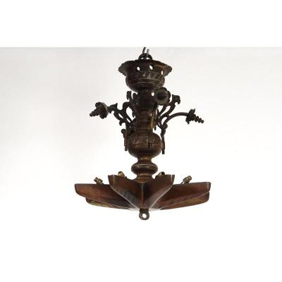 Lampe Juive De Chabbat Lustre Judenstern Bronze Shabbat XVIIIè