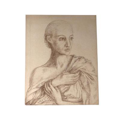 Dessin Encre Ernst Van Leyden Portrait Femme Karin Van Leyden Portret 1933