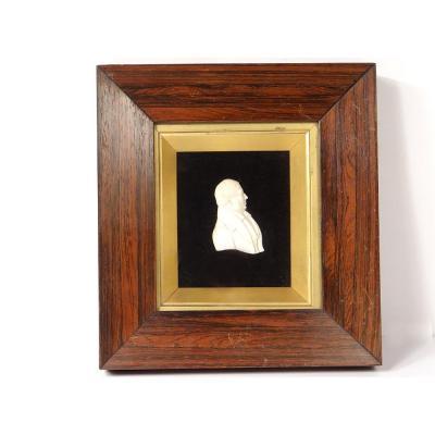Sculpture Ivory Bas Relief Dieppe Profile Man Aristocrat Bourgeois Nineteenth