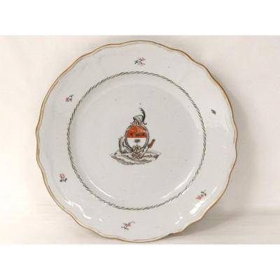 Plate Company Of India Coat Of Arms Family Ehrenbill Sweden Qianlong 18th