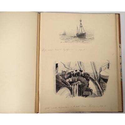 29 Dessins Plume A. Brun Croisière Norvège Medjé Journal Le Yacht 1897