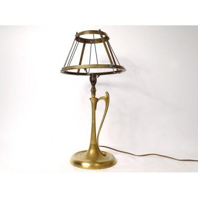 Art Nouveau Gilt Bronze Lamp XIXth Century