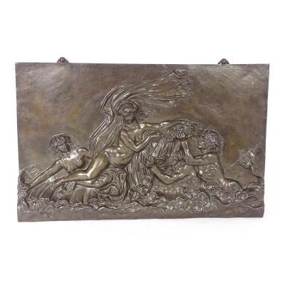 Bronze Sculpture Plate Signed Nineteenth Barbedienne