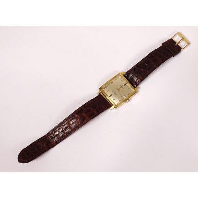 Moeris Excellence Automatic Men's Bracelet Watch 18k Gold Swiss Vintage XXth