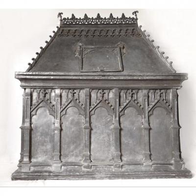 Fontaine Réserve à Eau Baptismale Plomb Mâcon Bourgogne Haute Epoque XVIè