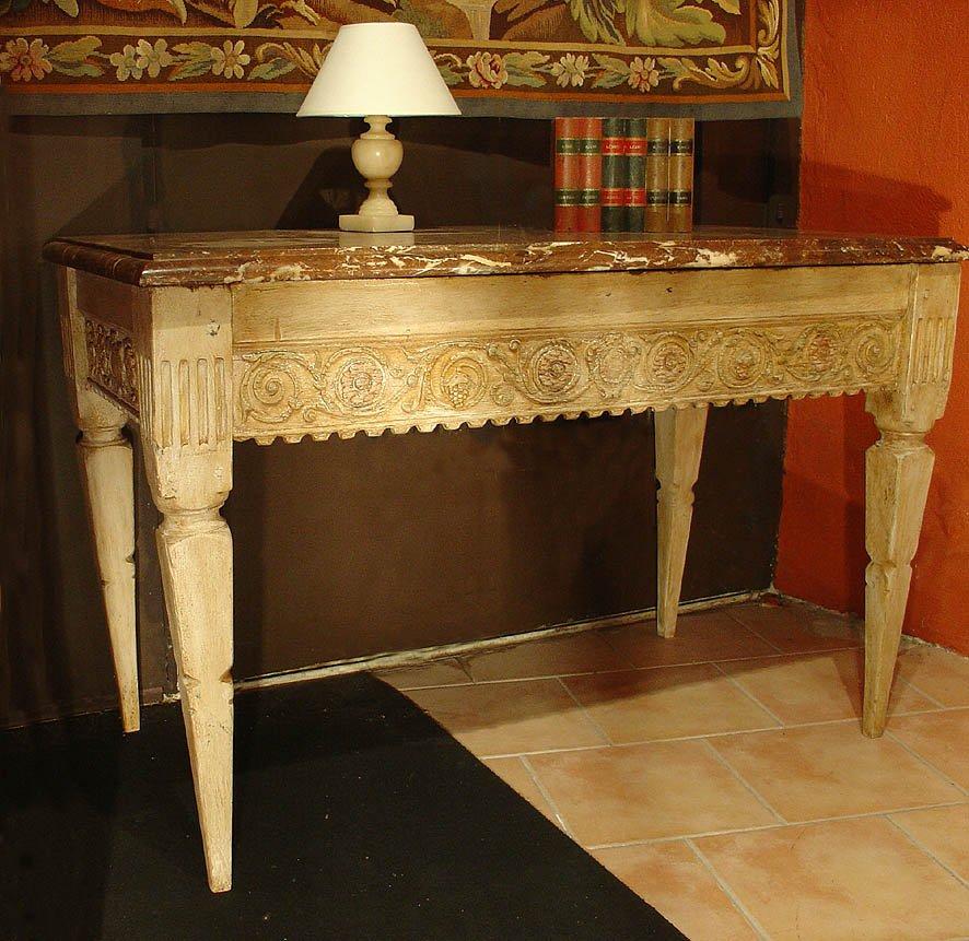 Table Console Peinte Fin 18eme
