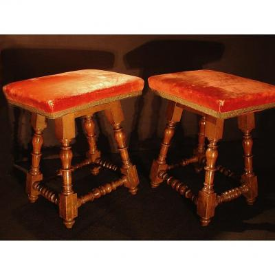 17th Century Pair Of Stools
