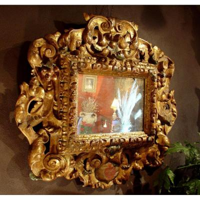 17 Th Century Spanish Baroque Mirror