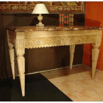 Table Console Peinte Fin 18eme